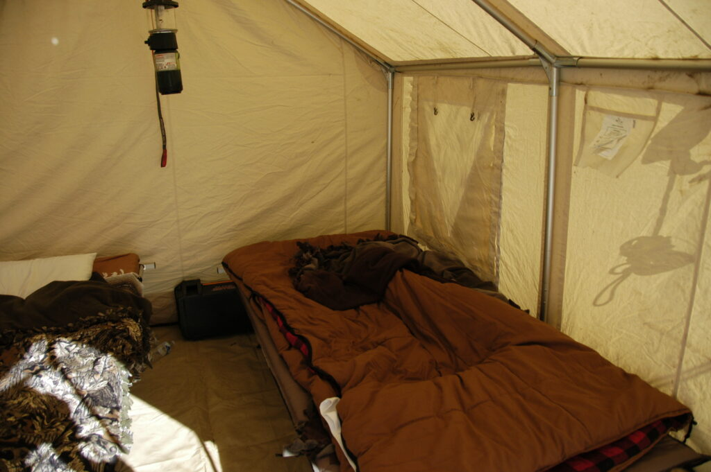 downside of wall tents for hunting