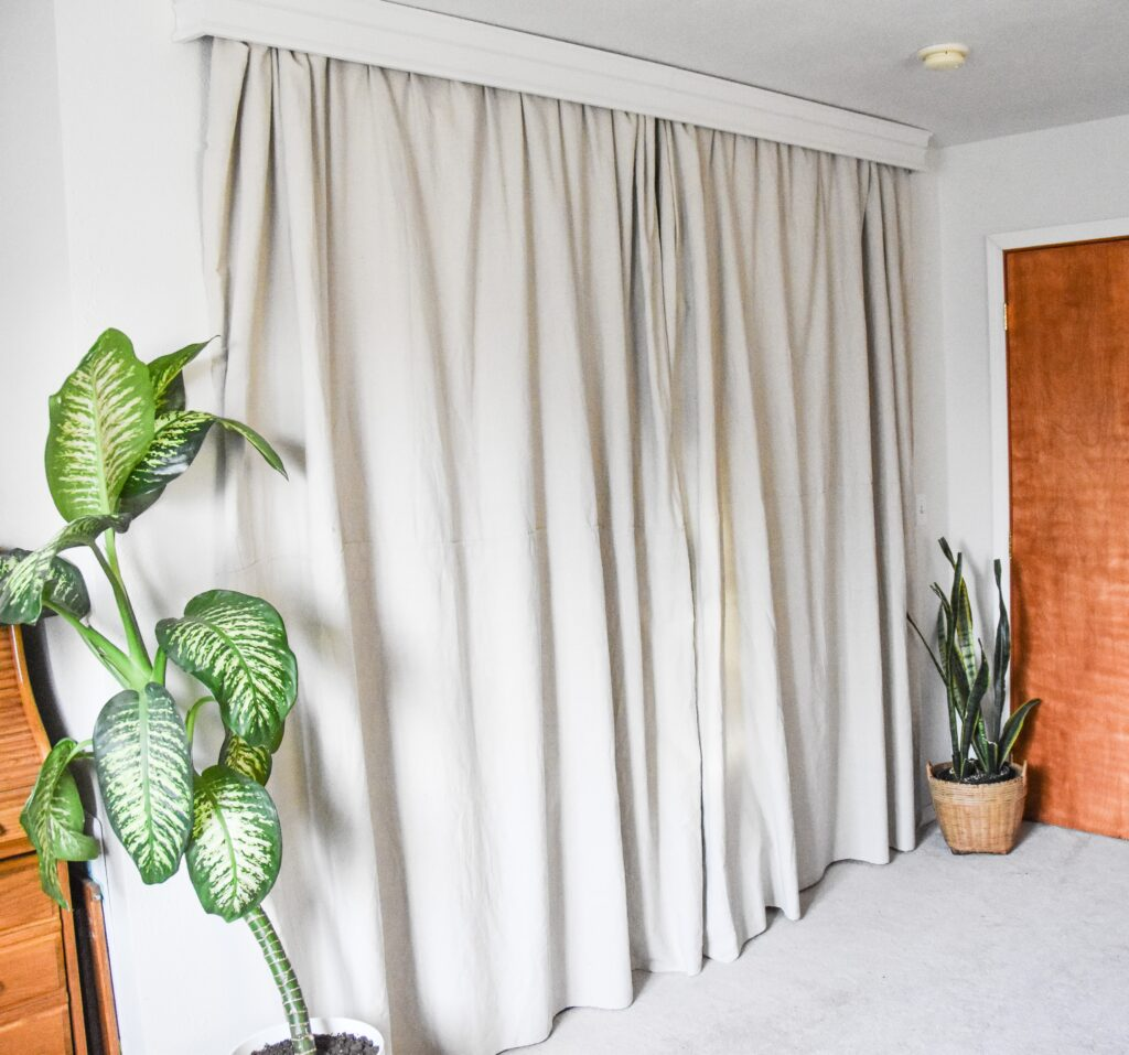 Dropcloth curtain 1