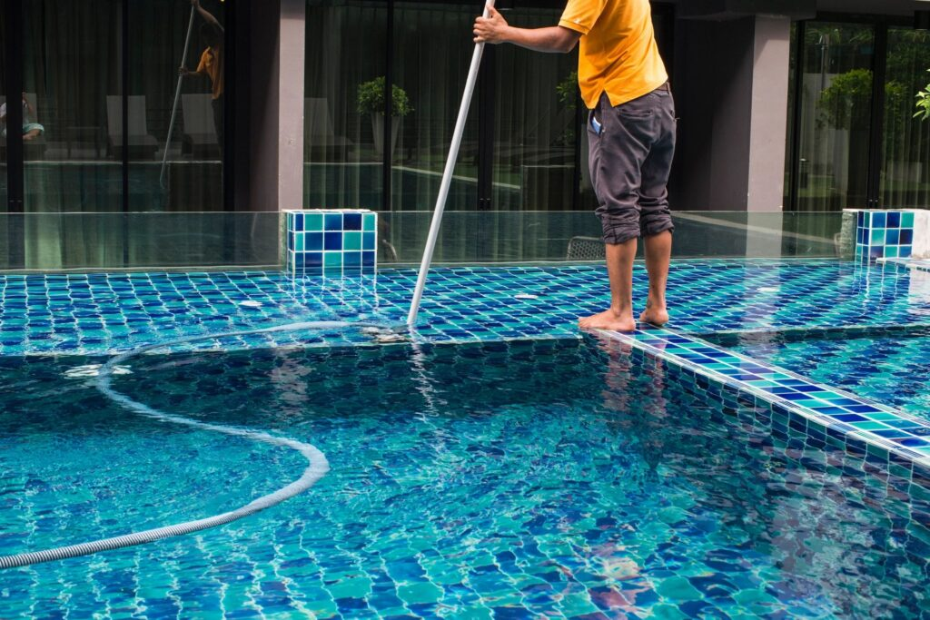 canvas tarp cover pool cleaner water